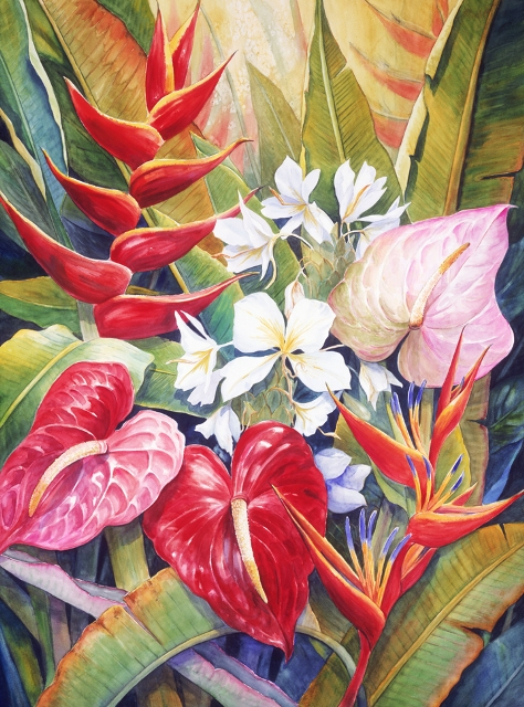 ANTHURIUM, HELCONIA & GINGER