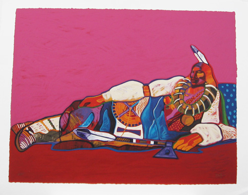 RECLINING PONCA CHIEF